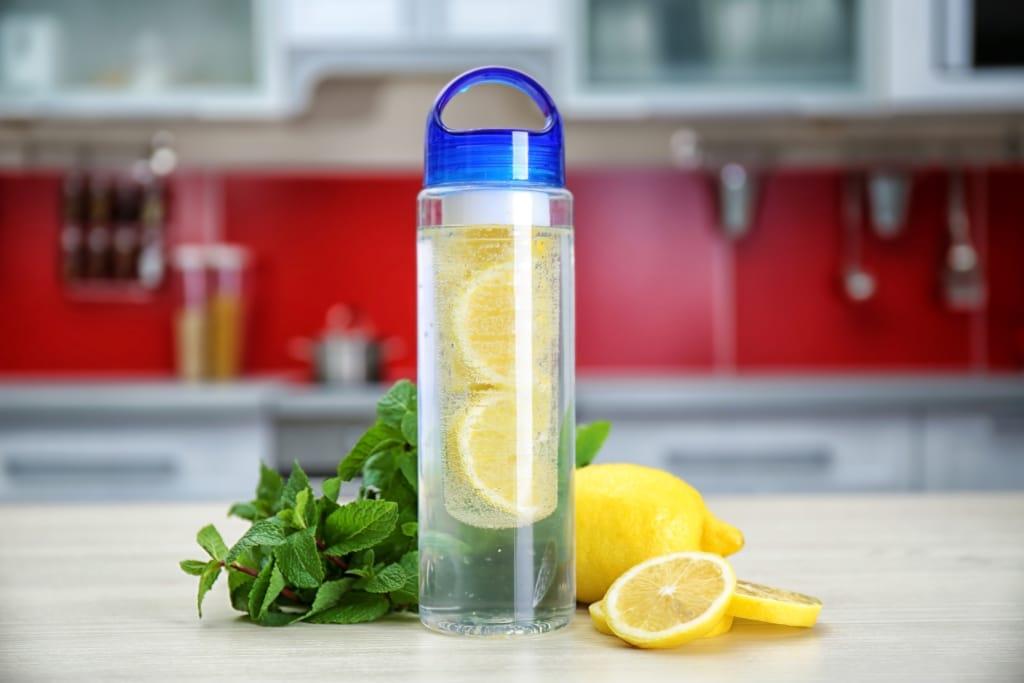 eau detox citron menthe